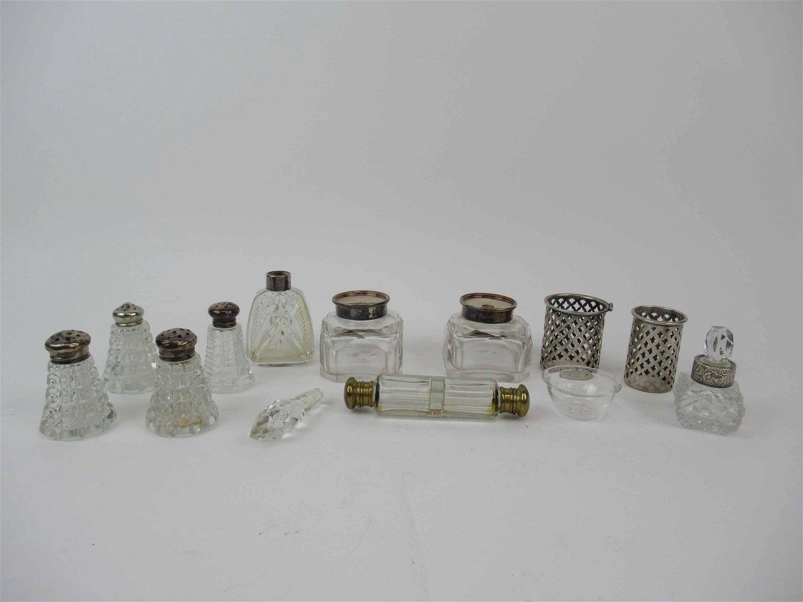English Silver Mounted Perfume Bottle
