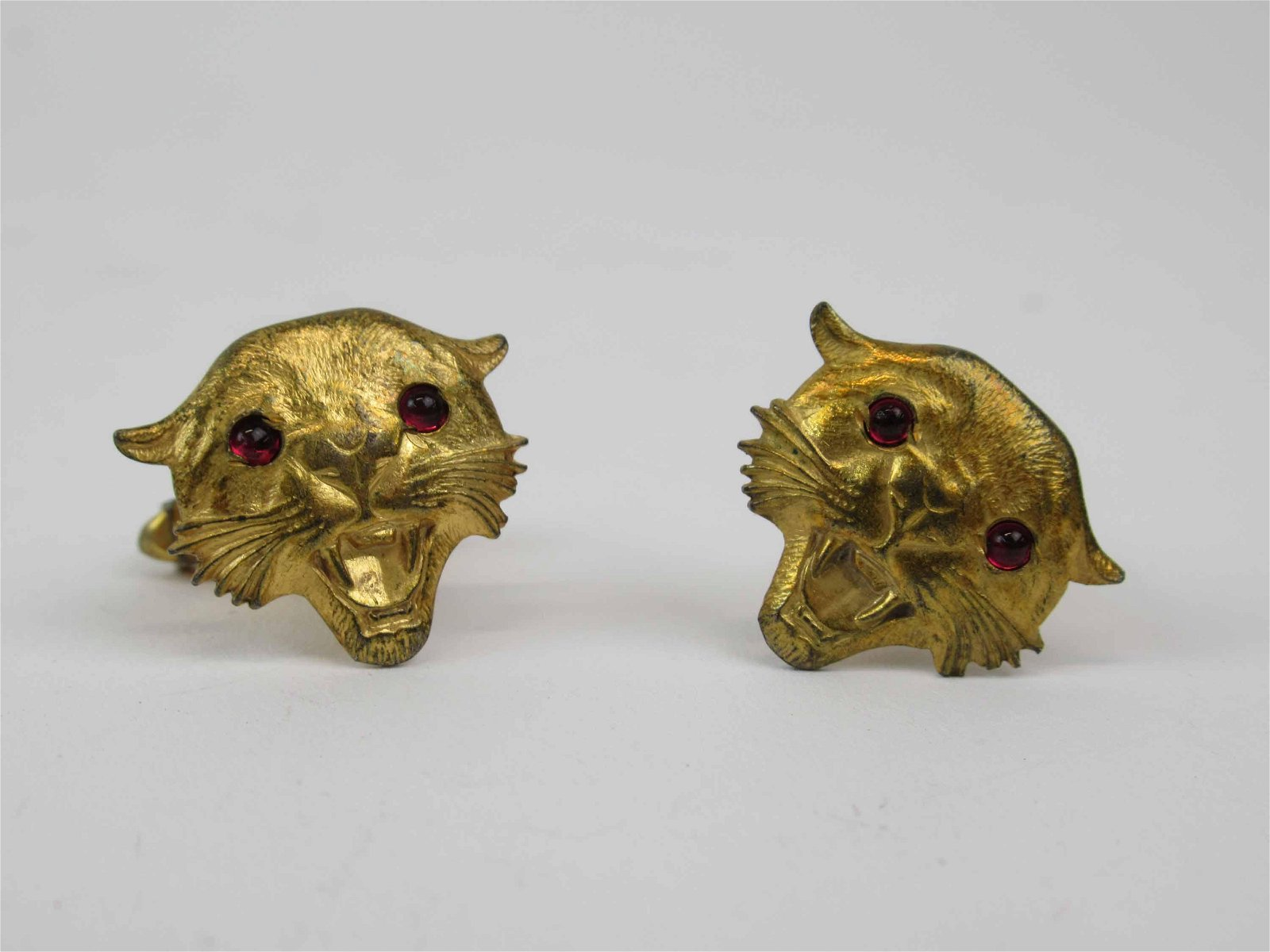 Pair of Gold Tone Panther Head Cufflinks