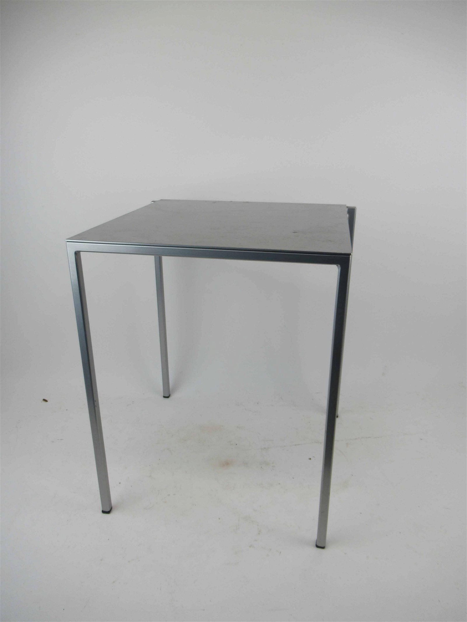 Modern Zevz Italian Silver Tone Side Table