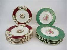 8 Myott Staffordshire Chelsea Bird Dinner Plates