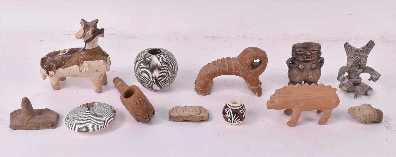 Group of Mayan and Southwestern Artifacts