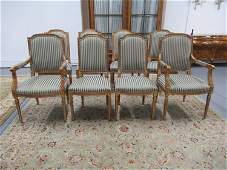 Set of 8 Louis XVI Style Dining Chairs