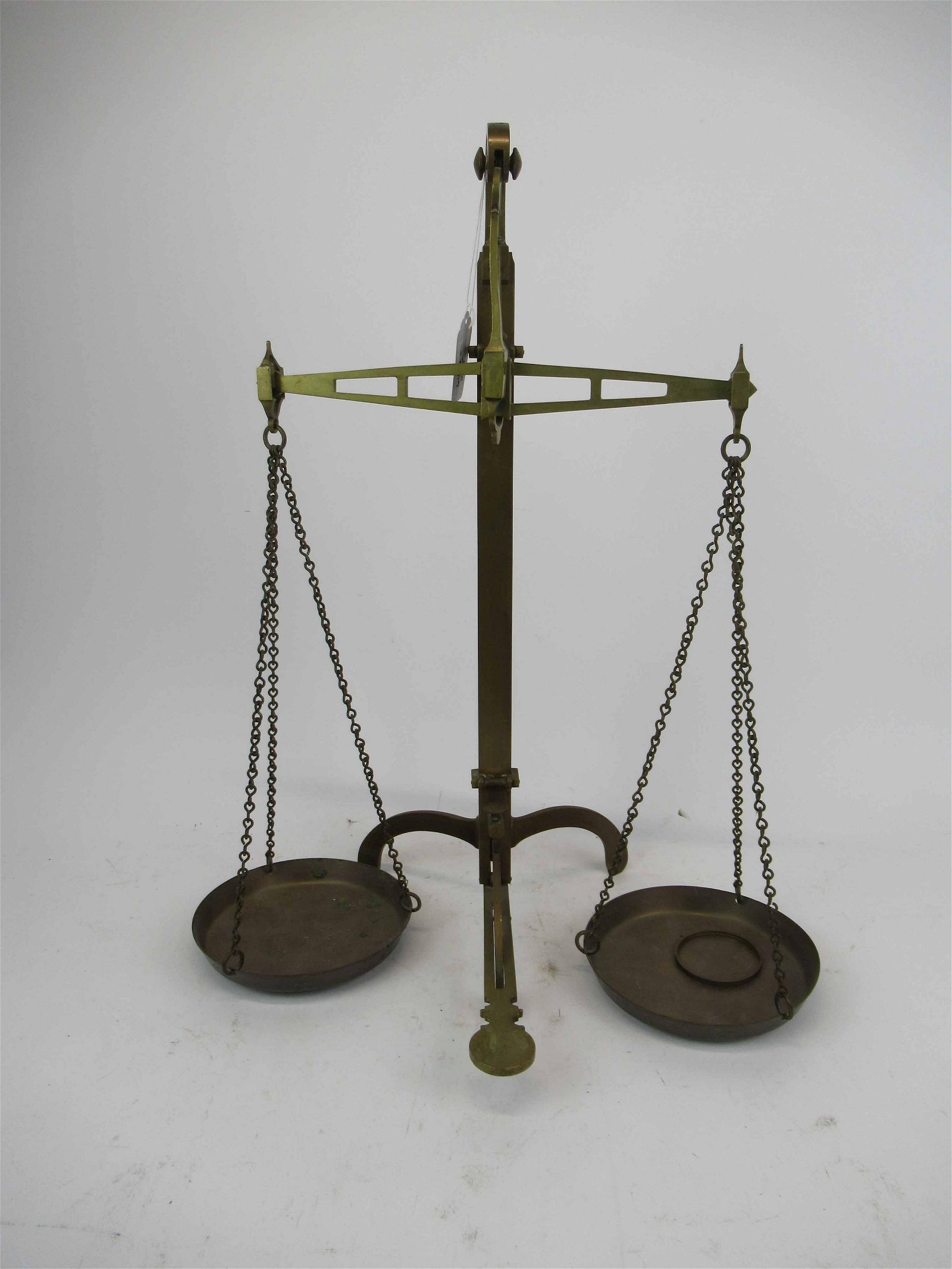 Antique Brass Floor Balance Scale