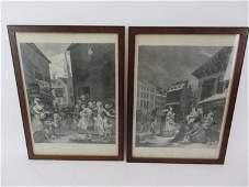 Two Engravings Designed  By William Hogarth