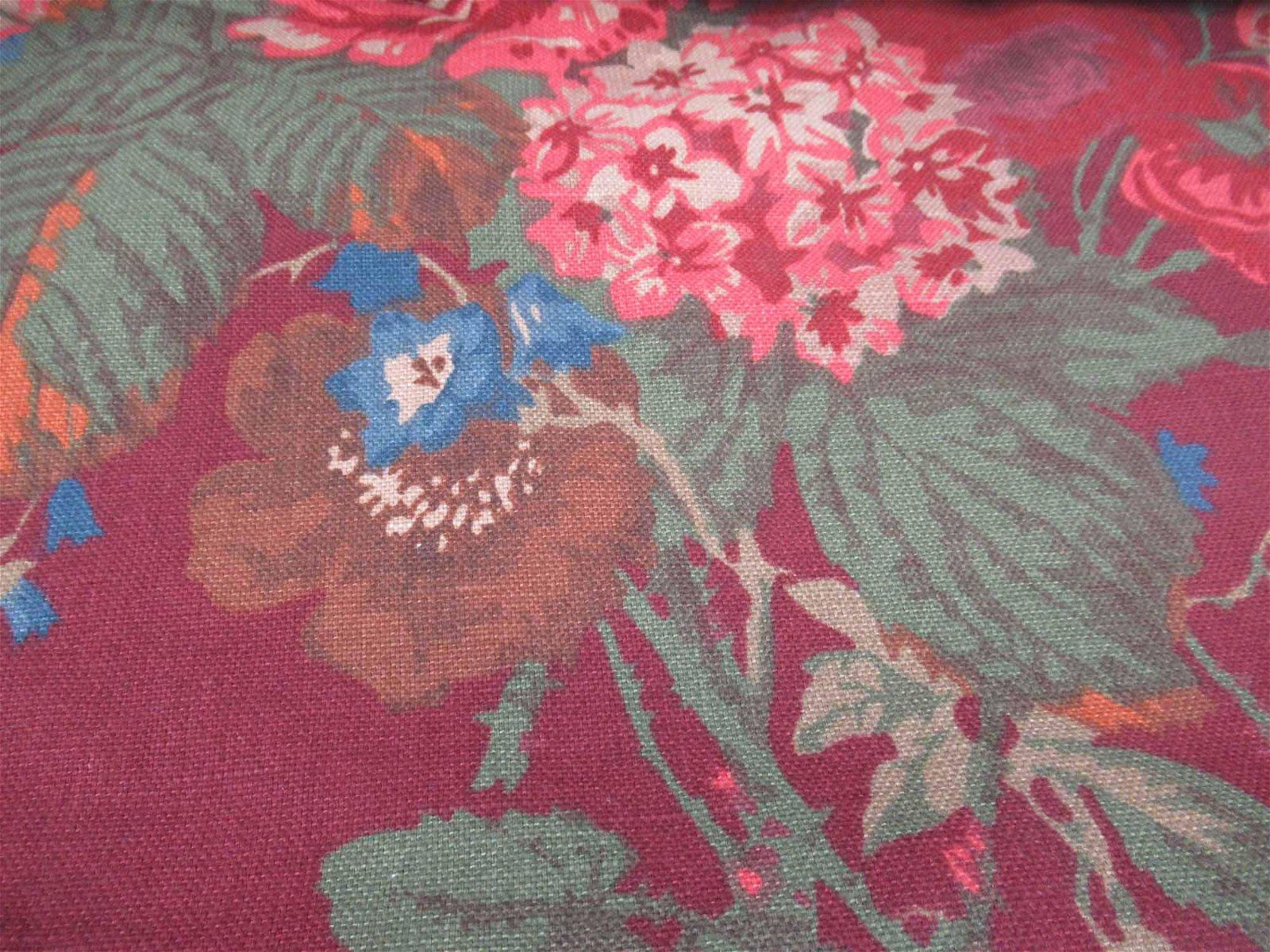 Ralph Lauren Claret Floral Fabric