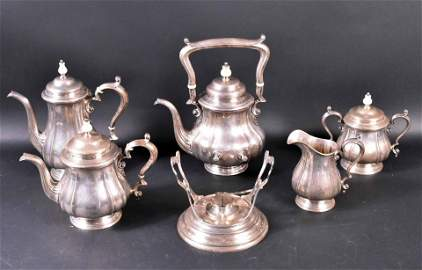 Durgin Sterling Silver Tea and Coffee Service