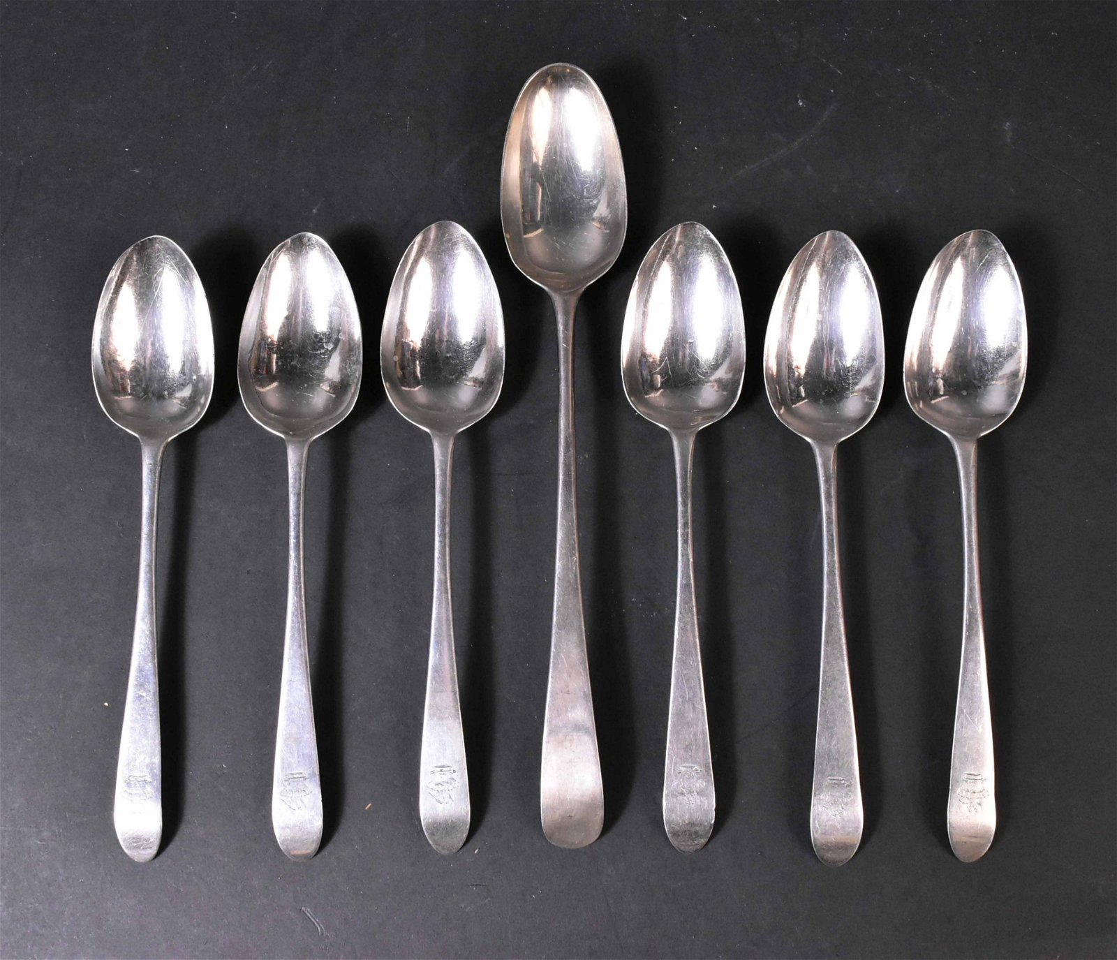Set of Six Irish Silver Tablespoons