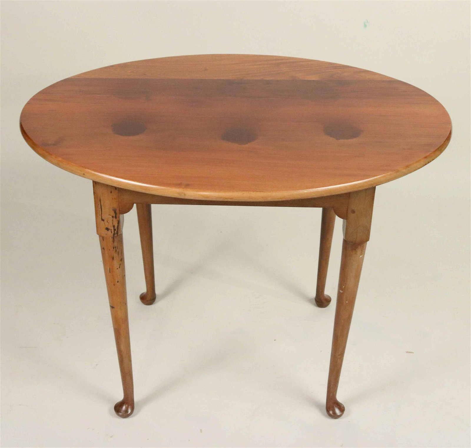 Queen Anne Mahogany Oval Tea Table