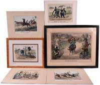 Six Americana Currier and Ives Prints
