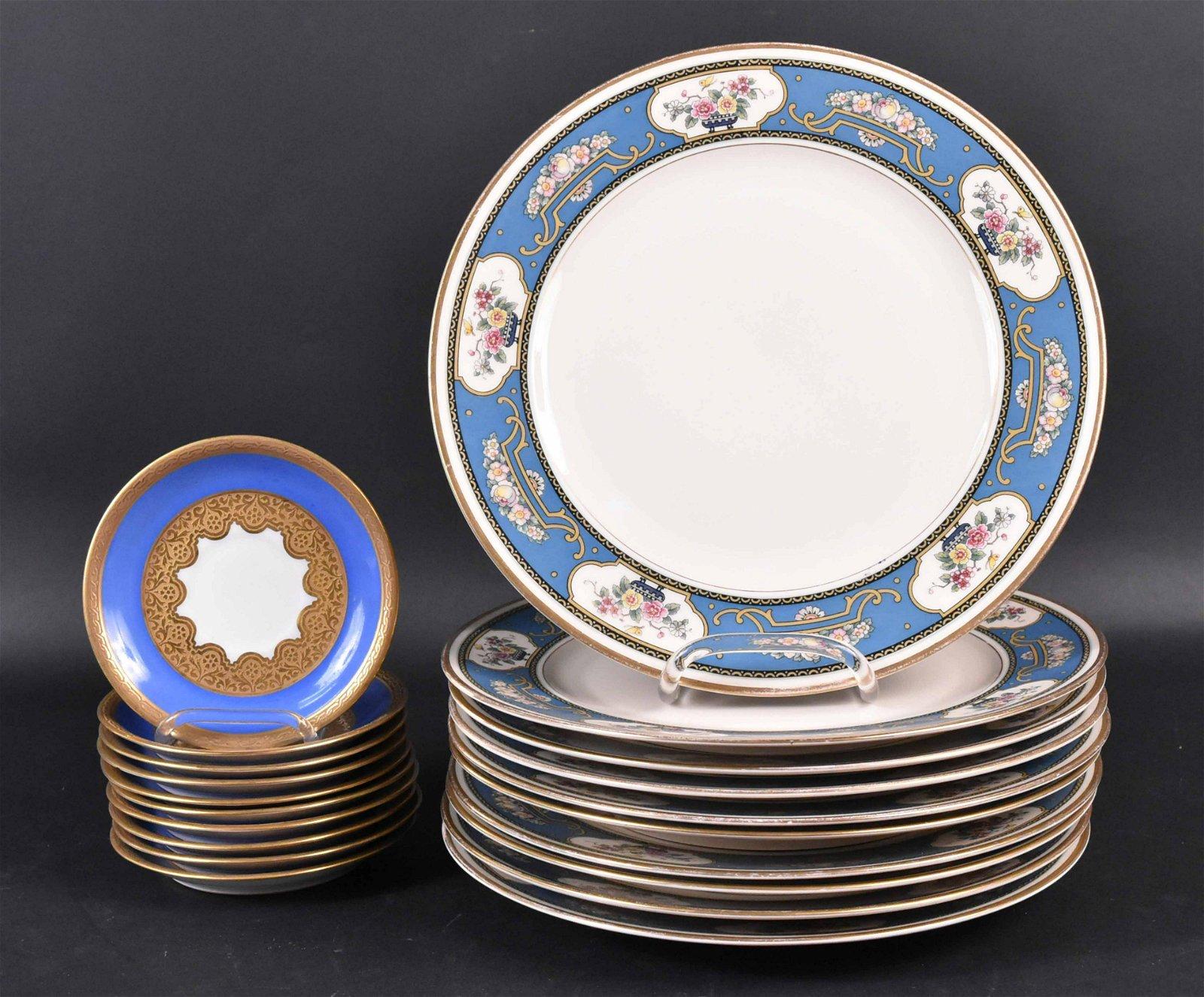 Ten Rosenthal Blue Dinner Plates
