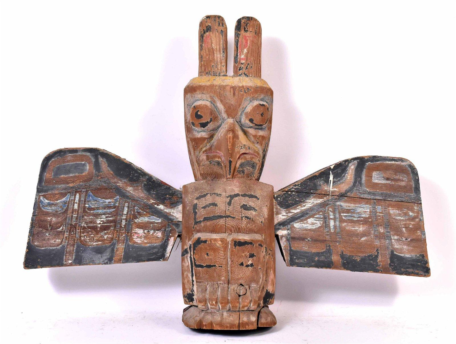 Southern Northwest Coast Carved Wood Totem Pole