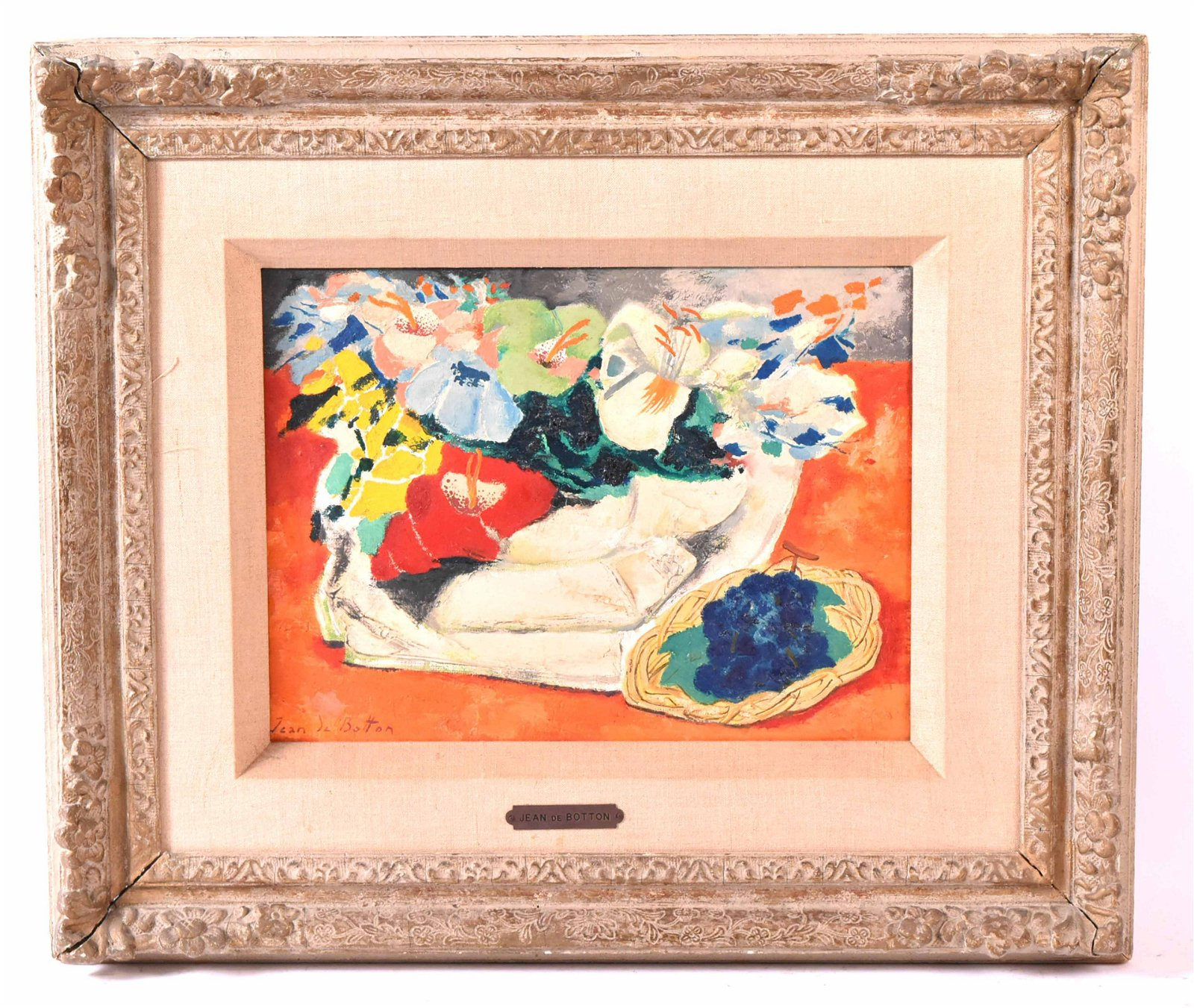 Oil on Canvas, Abstract Still Life, Jean deBatton