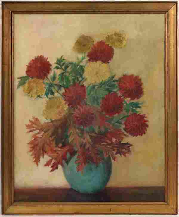 Oil on Canvas, Floral Still Life, Jane Peterson