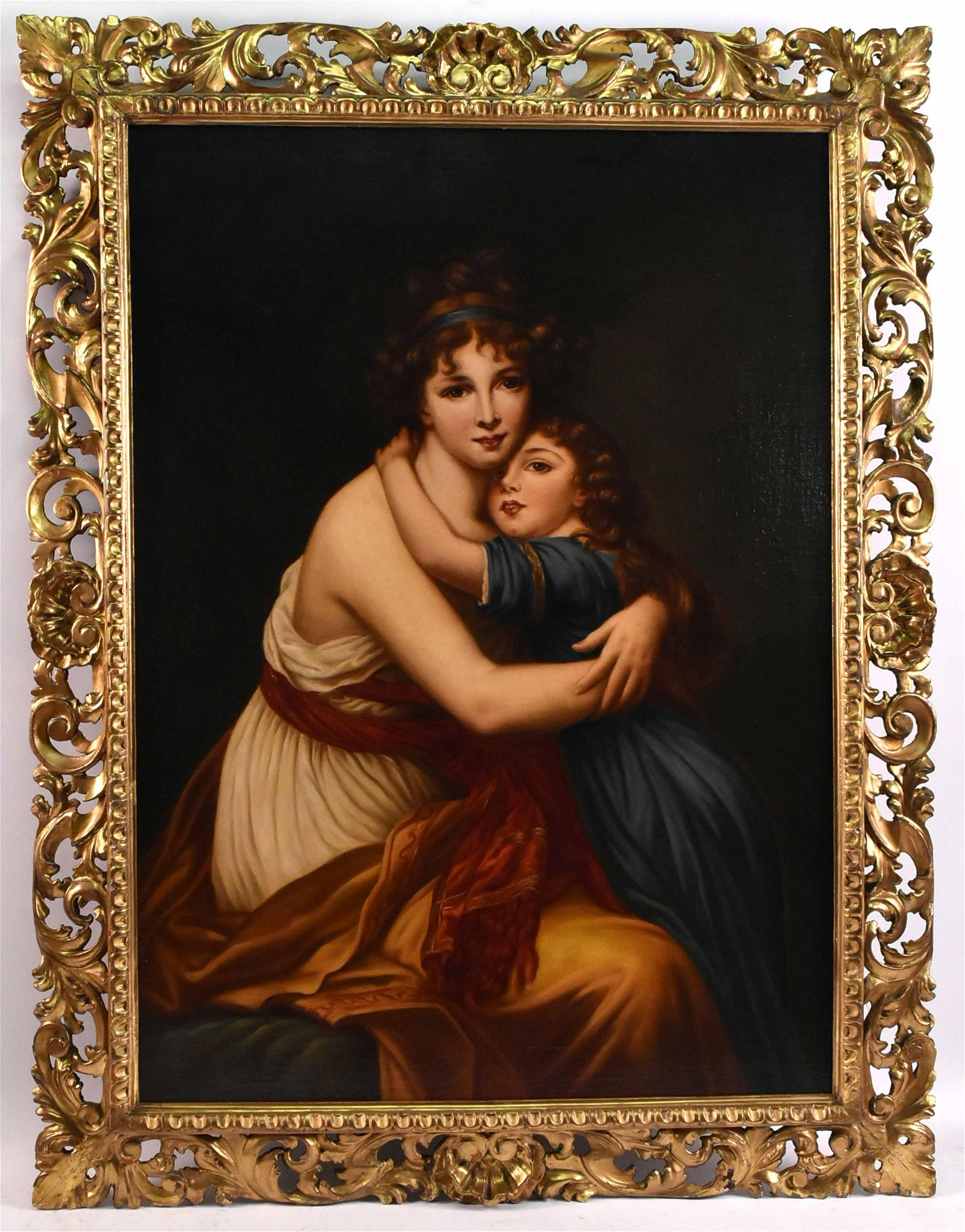 Oil on Canvas, Mother and Child