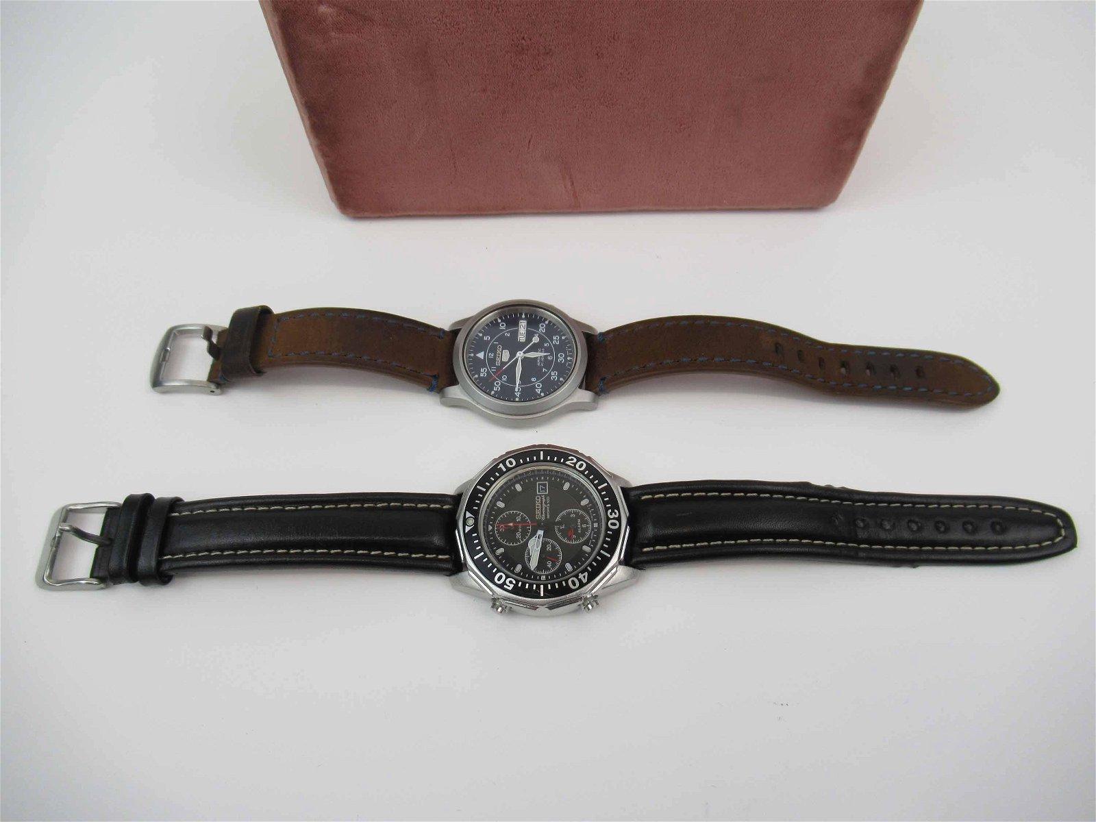 Two Men's Seiko Watches