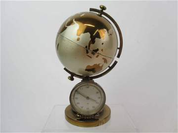Vintage Globe Clock With Cigarette Dispenser