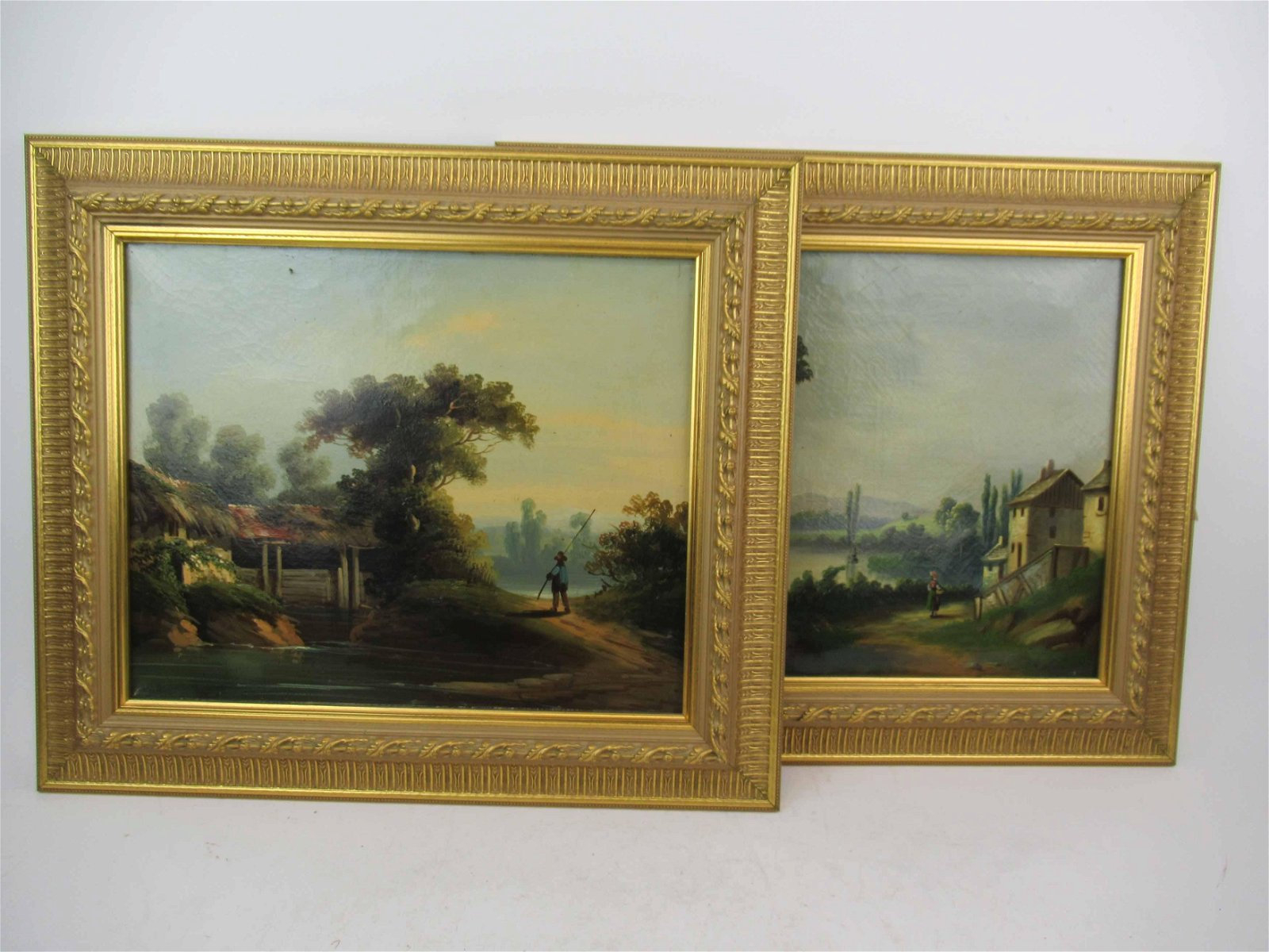 Two Continental Oil on Canvas Landscapes