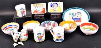 Group of Desimone Italian Art Pottery