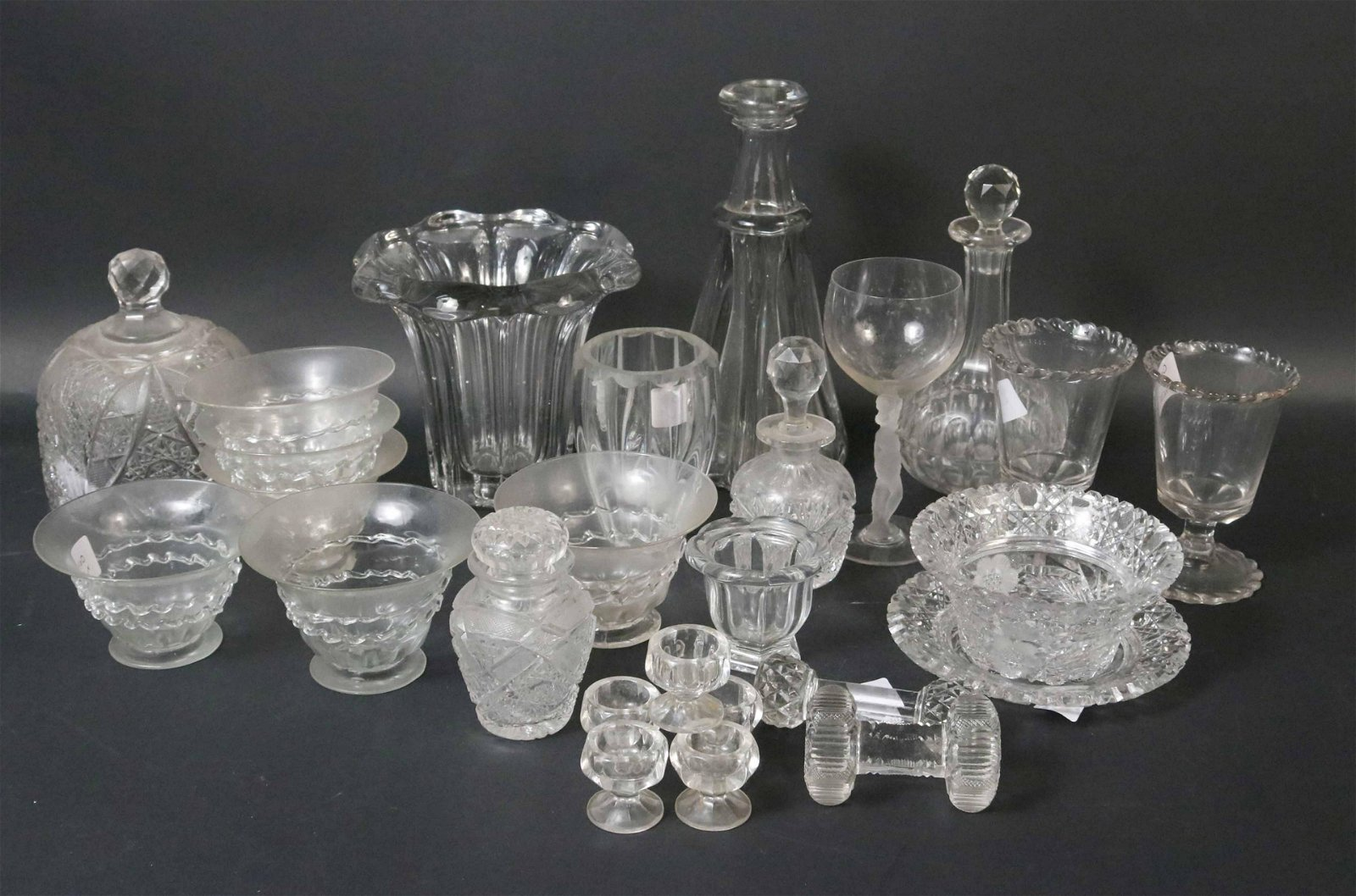 Group of Blown, Pressed, and  Cut Glass