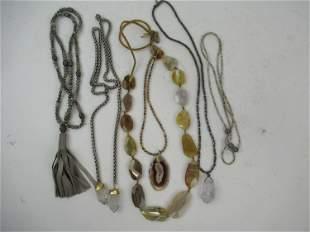 Group of Hardstone Mounted Costume Jewelry