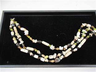 Sterling Silver Quarts and Turquoise Necklace