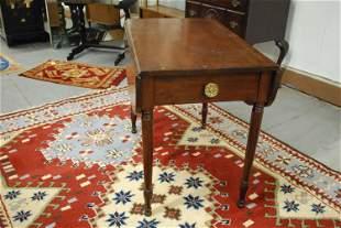 Antique Hardwood Drop Leaf Table