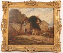 Oil on Board, The Residence of Sir W.Raleigh