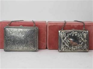Antique Sterling Silver Card Case and Purse