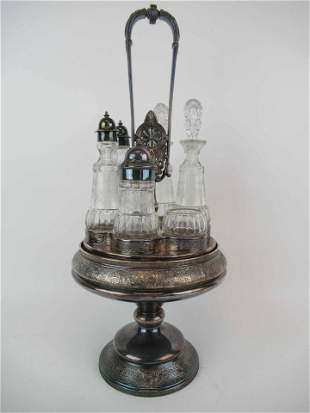 Victorian Middletown Silver Plate Caster Set