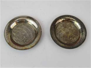Two Silver Plates in a Fitted Presentation Box