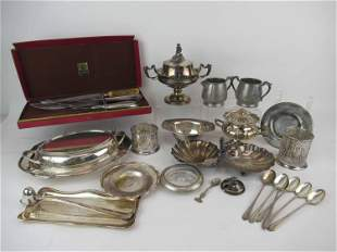 Group of Assorted Sterling Silver & Silver Plate