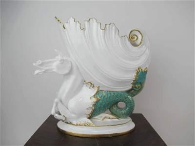 Antique Royal Crown Derby Porcelain Nautilus