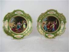 Pair of Royal Vienna Austria Cabinet Plates