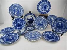 Assorted Shakespearean Blue Transferware