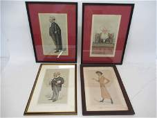 Four Assorted Vanity Fair Spy Prints