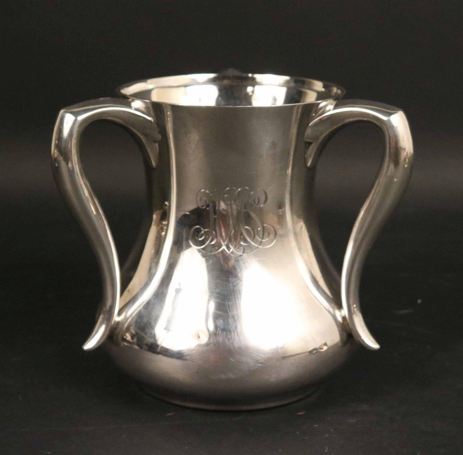 Tiffany Sterling Silver Three Handled Loving Cup