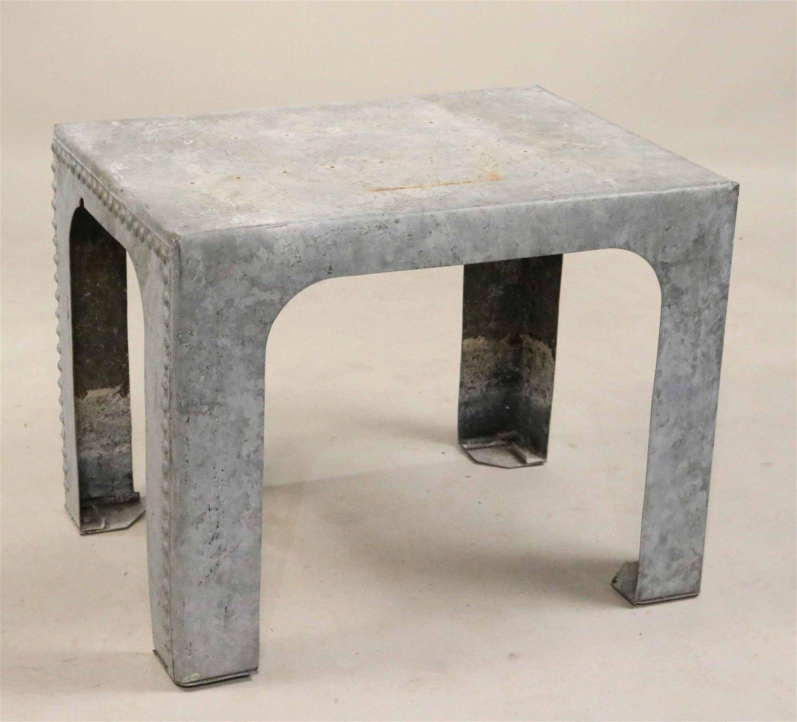 Galvanized Steel Side Table