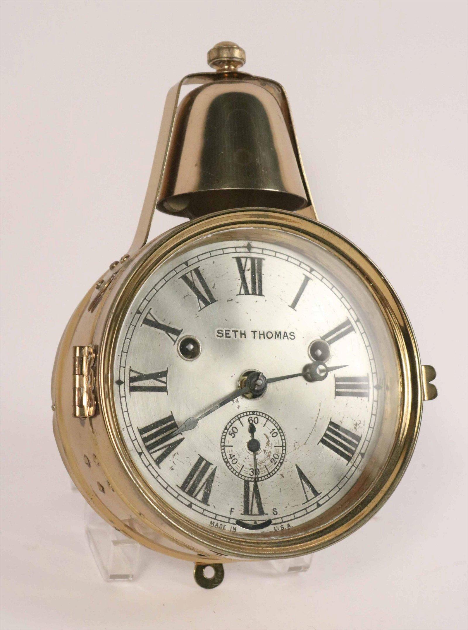 "Seth Thomas ""Yacht Bell"" Ship's Clock"