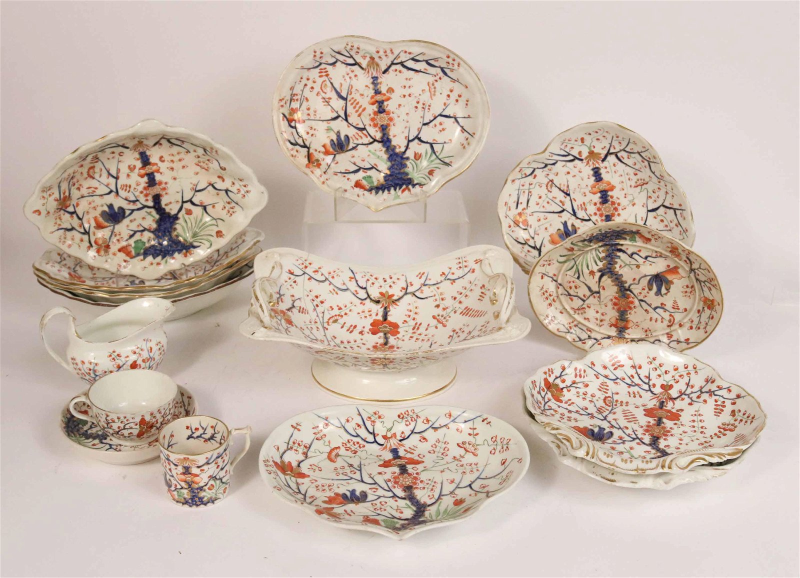 Group of Old Derby Serving Dishes
