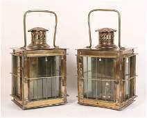 Pair of Brass Railroad Lanterns