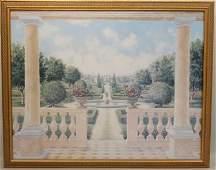 Watercolor, Probably Gilles Mannorimi, Garden