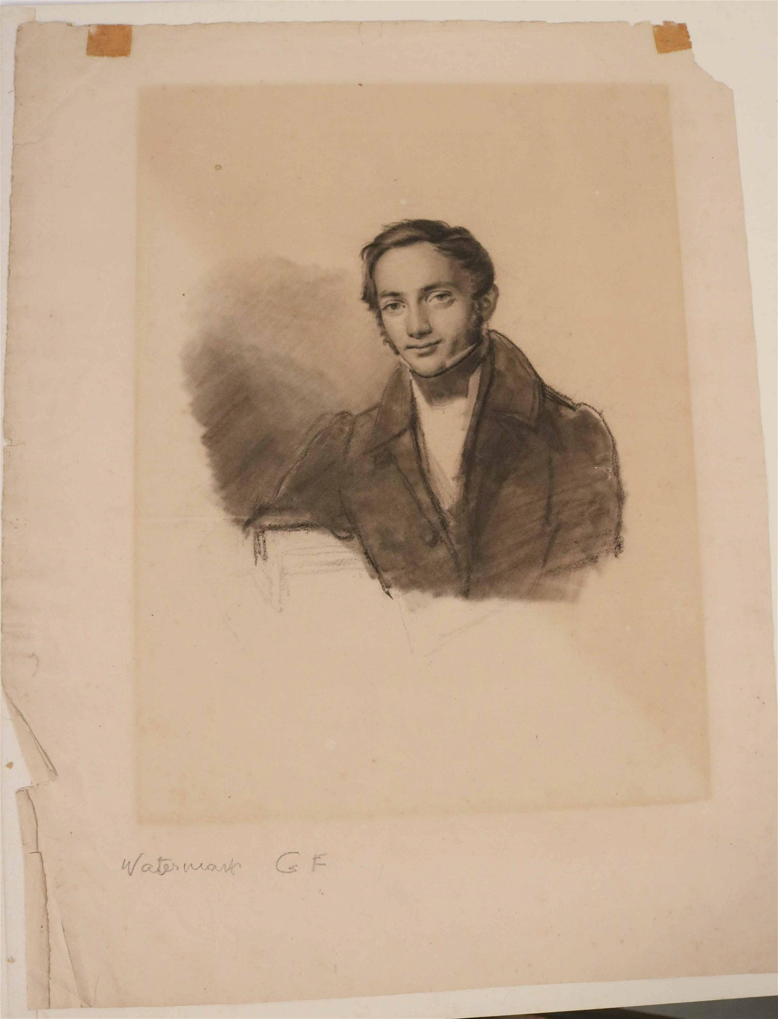 Charcoal on Paper, Portrait of a Gentleman
