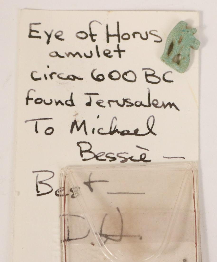 Egyptian Green Open Work Eye of Horus Amulet