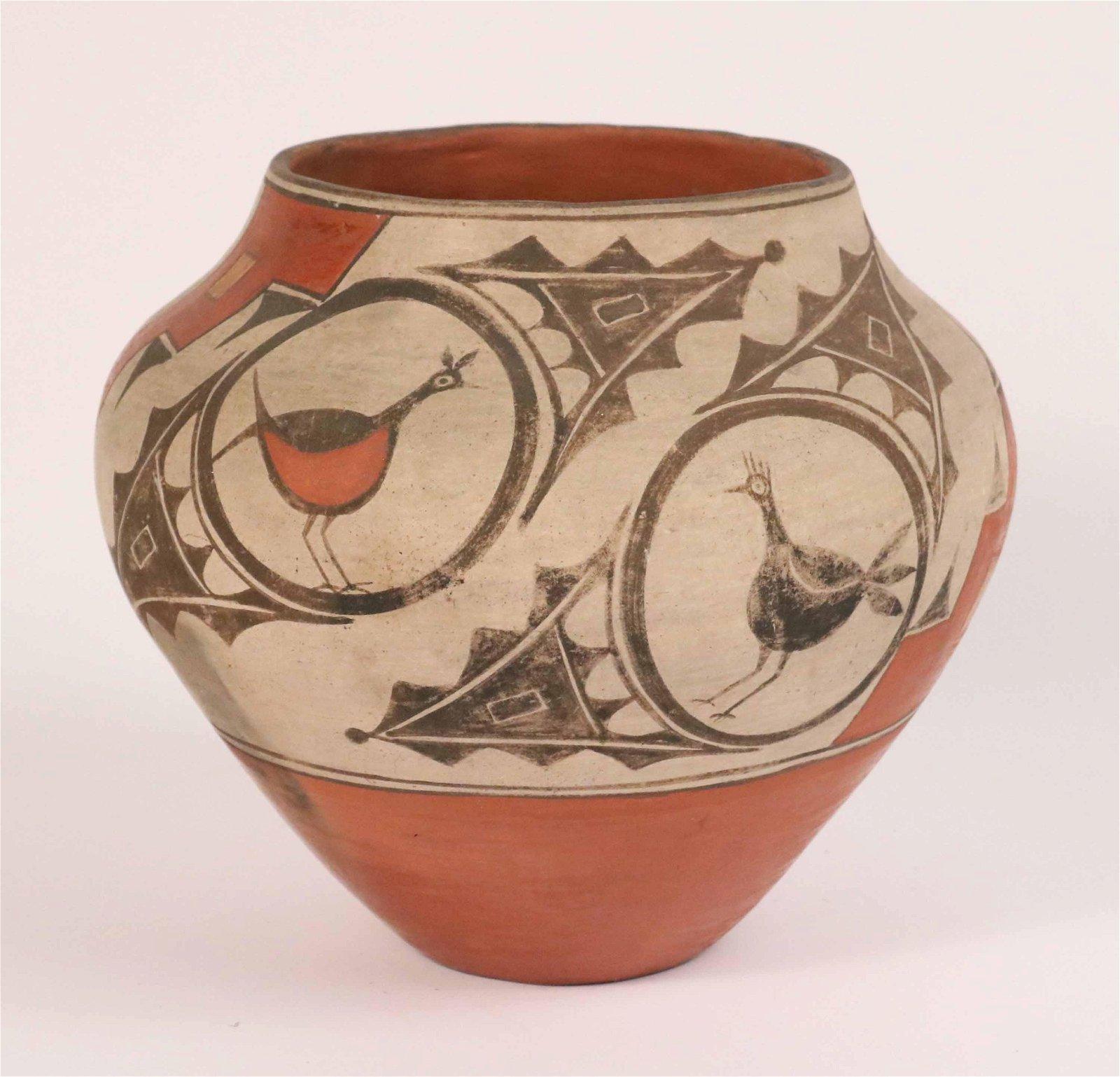 Acoma Polychrome Pottery Vase
