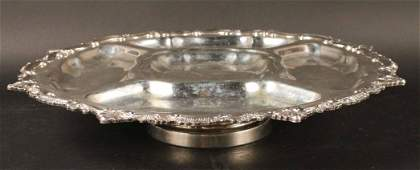 Silver Plated Sectioned Lazy Susan Serving Tray