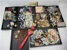 Group of Assorted Costume Jewelry, Table Articles