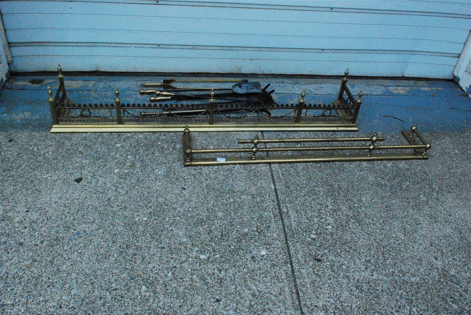 French Style Brass Fireplace Fender