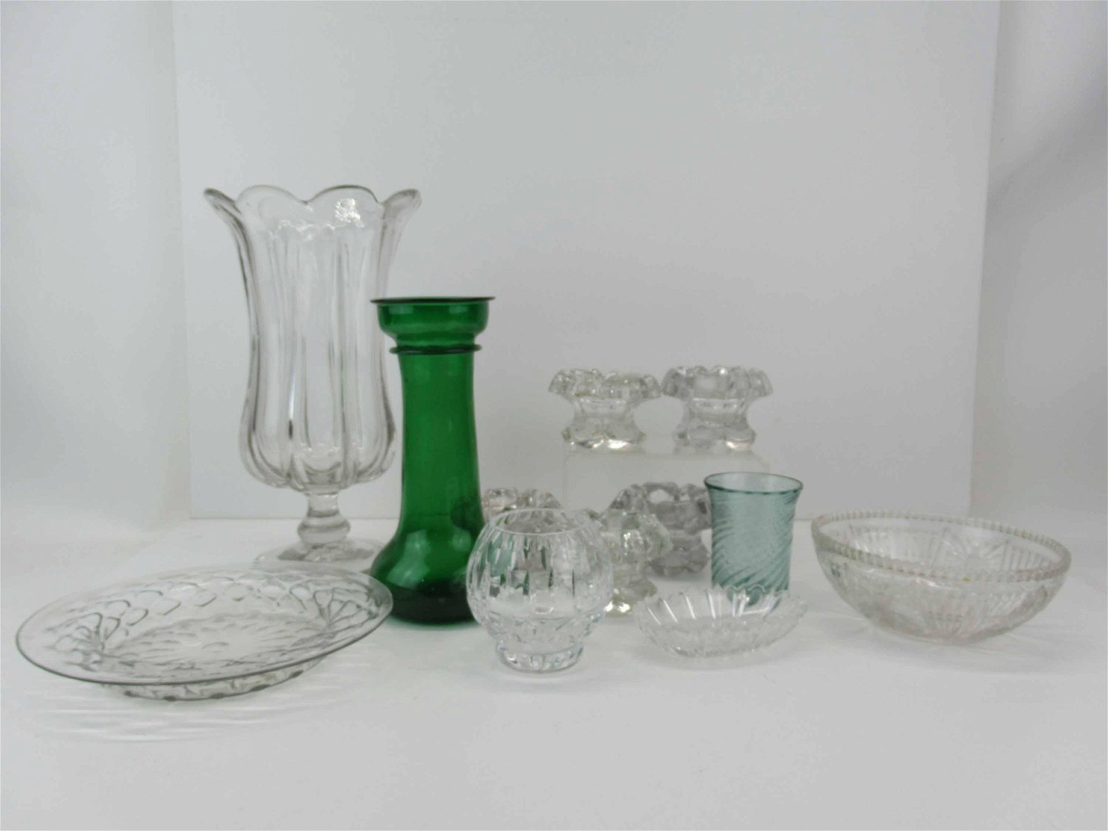 Group of Assorted Antique Glass Table Articles