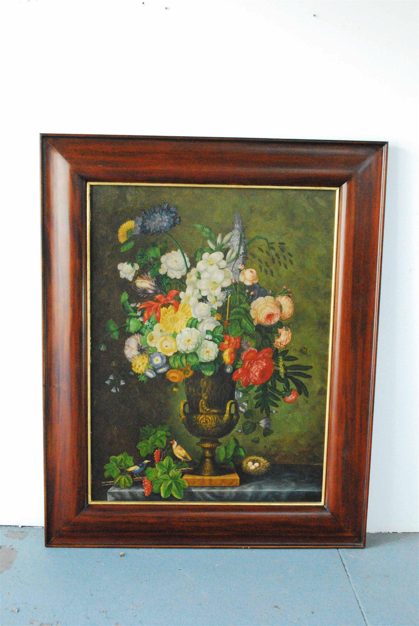 Maitland Smith Oil on Board Floral Still Life