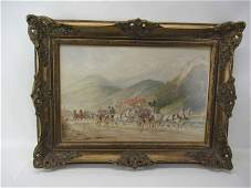 Hans Gottfried Wilda Watercolor of Carriages